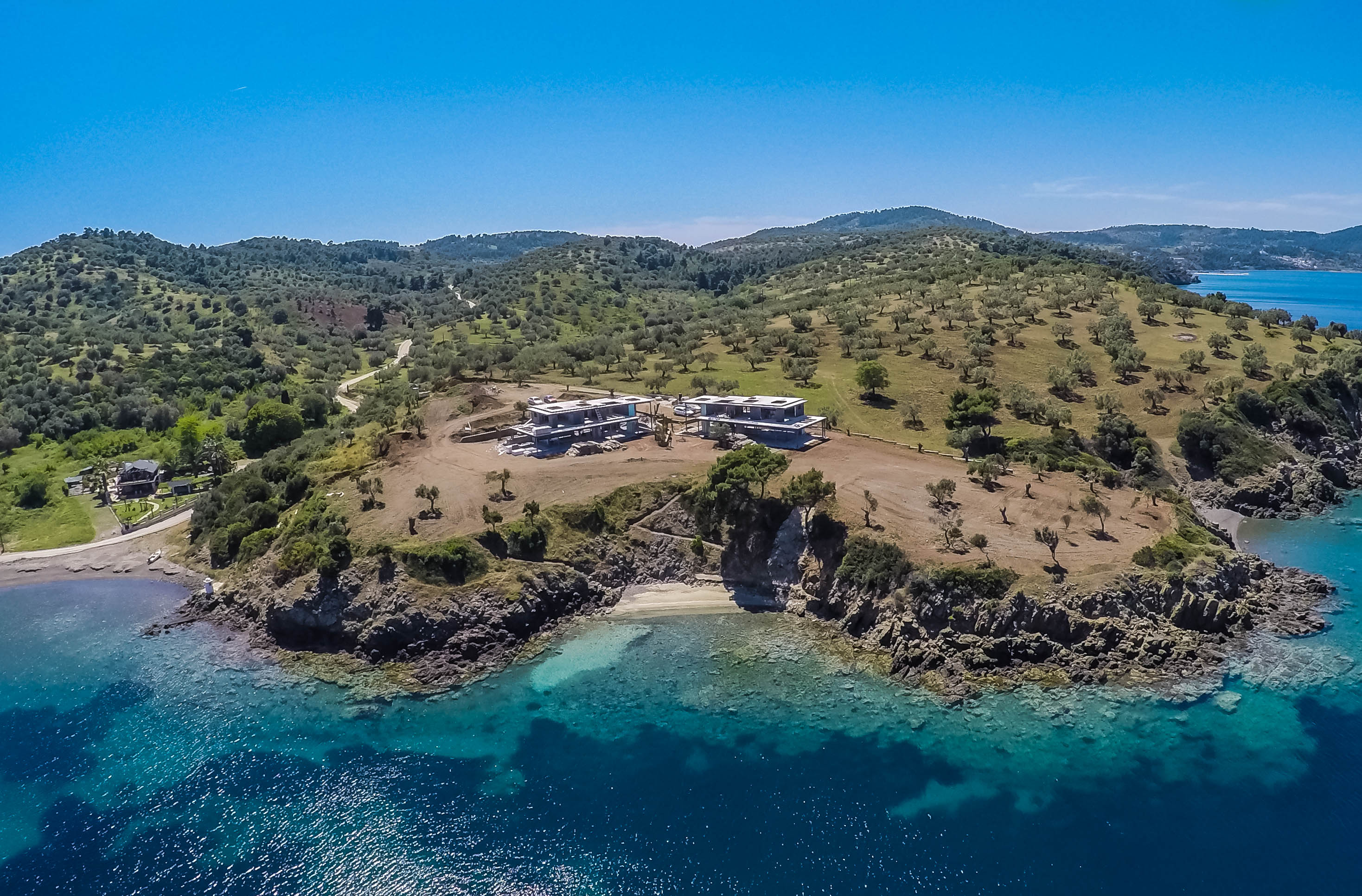 Greece, seaside villas, Athens, Chalkidiki, Halkidiki, by the sea, private beach