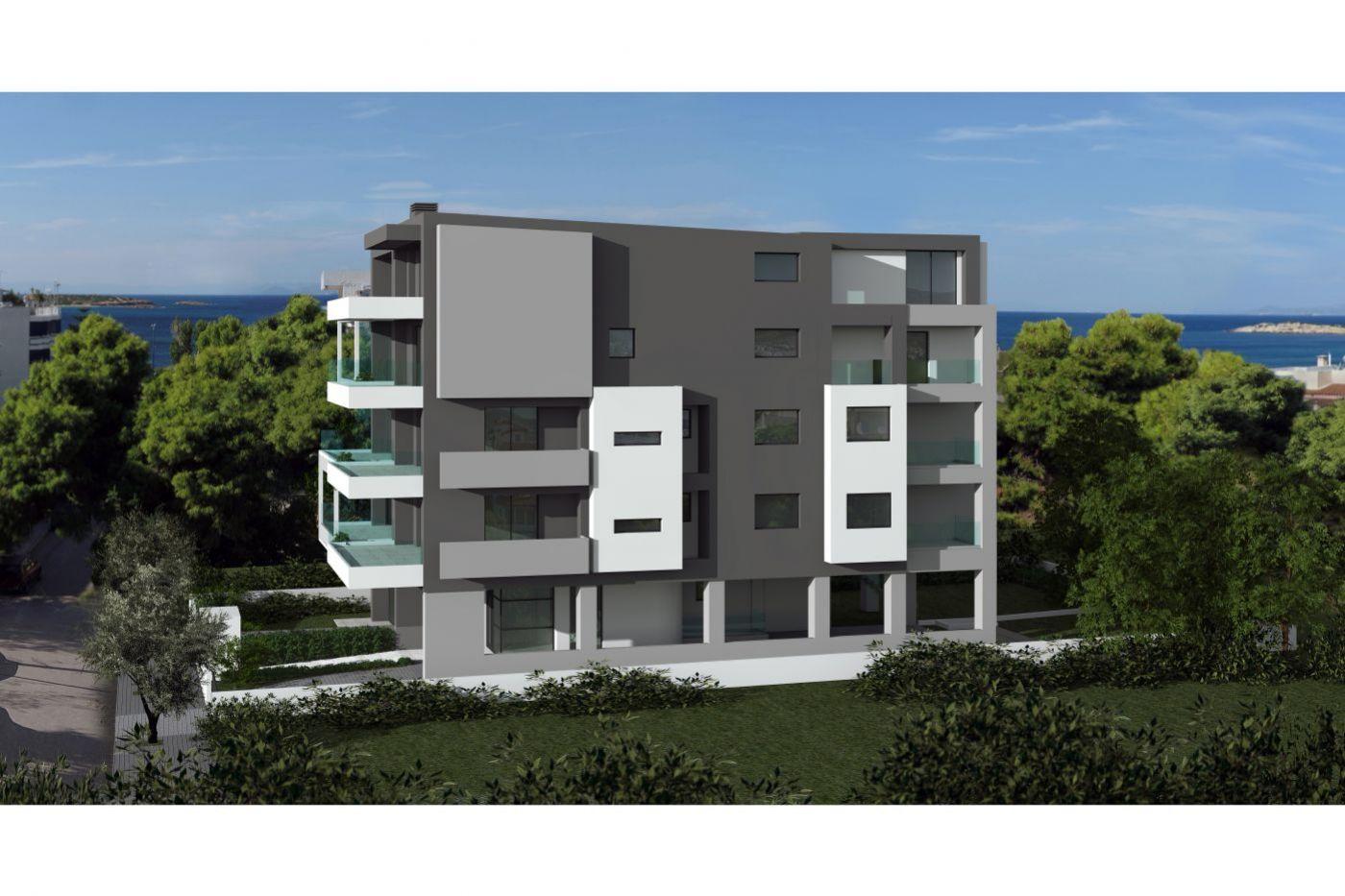 Christakis Oikonomou and Associates, sea view, residences Voula Athens