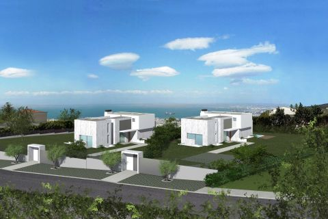 Christakis Oikonomou and Associates, family homes in Thessaloniki, Pylaia, sea view